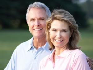 elderly smiling couple