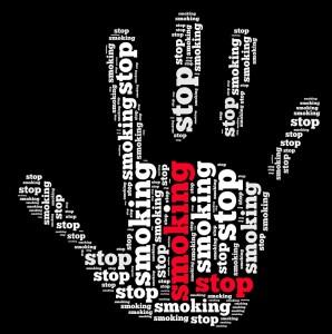 stop smoking hand