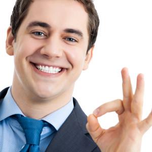 confident businessman smile