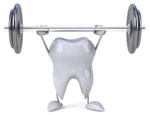 strong tooth deadlifting weights